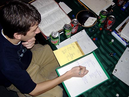 There were six photos of Paul writing, but nobody wants to see all that