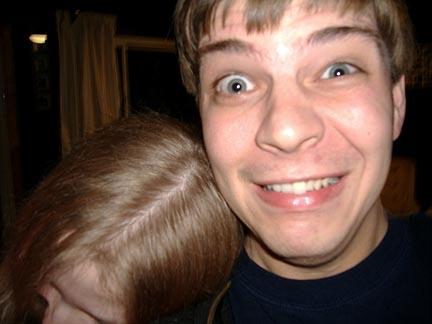 Hugs should not look that uncomfortable, Josh
