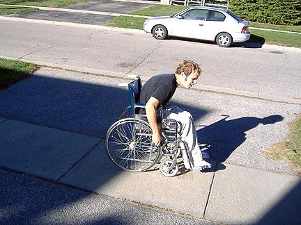 In preparation of a wheelie