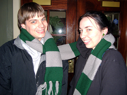 Sharing scarfs is a behaviour in civilized cultures